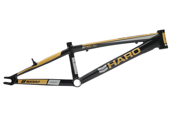2018 Haro Blackout PTC Frame Pro Black Gold.