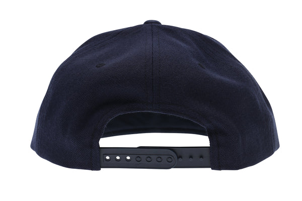 2019 Haro Big H Flat Bill Snap Back Hat Navy rear.