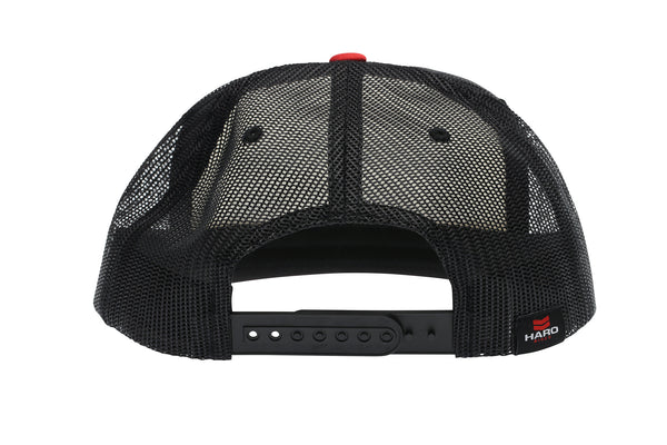 2019 Haro Freestylin Trucker Snap Back Hat Red White Black rear.