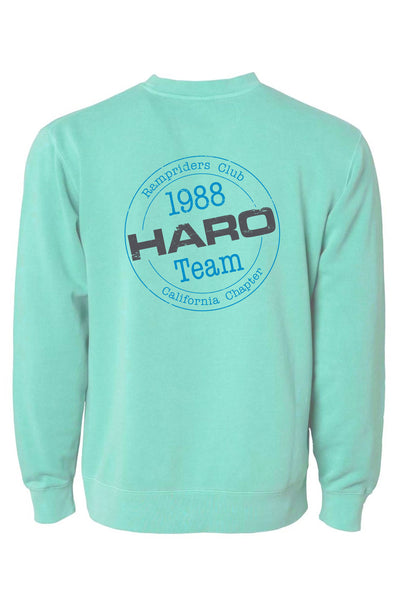 2019 Haro Ramp Riders Sweatshirt Mint Back.