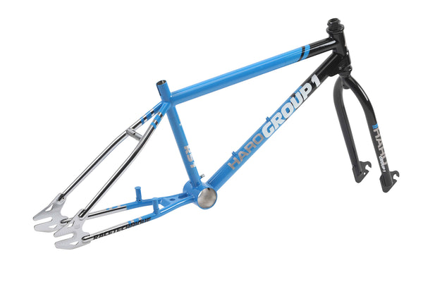 Haro Group 1 RS1 Frameset Black Blue 3qtr rear.