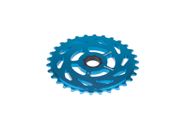 Lineage Sprocket Spline 3qtr Teal.