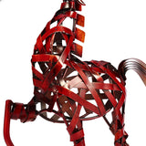 Metal Sculpture | Red Horse - Handmade - Seahorse Mansion