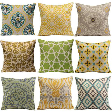 Throw Pillow Covers | Assorted Coastal Colors - 16 patterns - Seahorse Mansion
