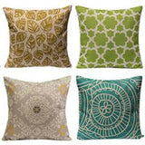 Assorted Throw Pillow Covers in Coastal Colors - 16 patterns - Seahorse Mansion - coastal decor gifts