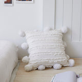 Throw Pillow Cover | Textured Pom Pom - 4 colors