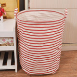 Linen Laundry Basket - 4 patterns - Seahorse Mansion