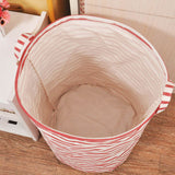 Linen Laundry Basket - 4 patterns - Seahorse Mansion - coastal decor gifts