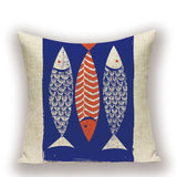 Throw Pillow Covers | Four or So Fish - 5 styles - Seahorse Mansion