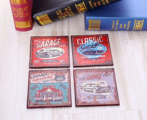 Vintage Garage Coasters - Seahorse Mansion - coastal decor gifts