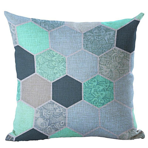 Throw Pillow Cover | Tile Art - 18 patterns - Seahorse Mansion
