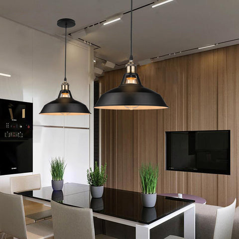 Pendant Lamp | Edward Industrial   - Black or White - Seahorse Mansion
