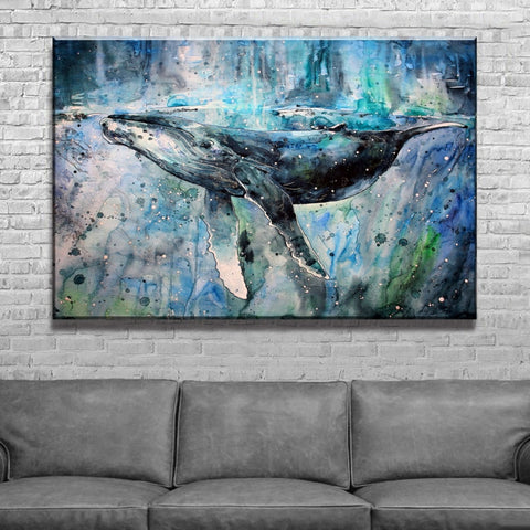 Canvas Print | Humpback Symphony - Ready to Hang, 2 Size Options - Seahorse Mansion