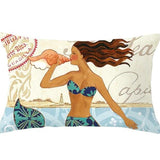 Throw Pillow Cover | Mermaid Mix - 4 designs - Seahorse Mansion