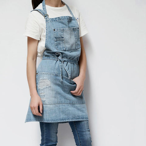 Apron | Distressed Denim - Adult, 3 colors - Seahorse Mansion