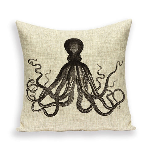 Throw Pillow Covers | Vintage Octopus - 6 designs - Seahorse Mansion