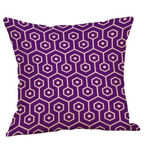 Throw Pillow Covers | Violet Geometric - 9 designs - Seahorse Mansion