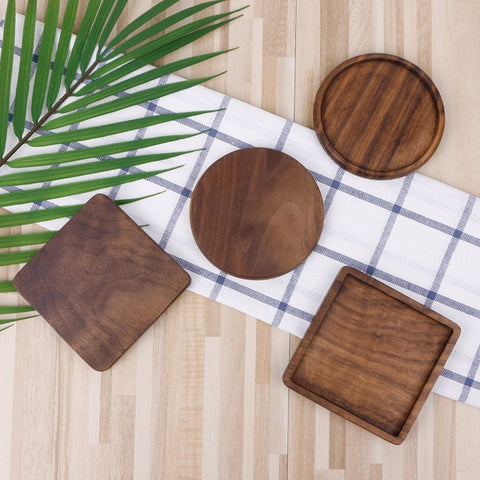 Coasters | Wooden Black Walnut - 4 styles