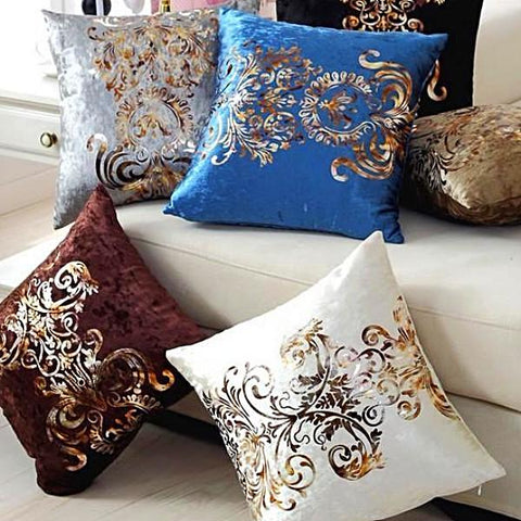 Royal Velour Throw Pillow Cover - 6 colors - Seahorse Mansion - coastal decor gifts
