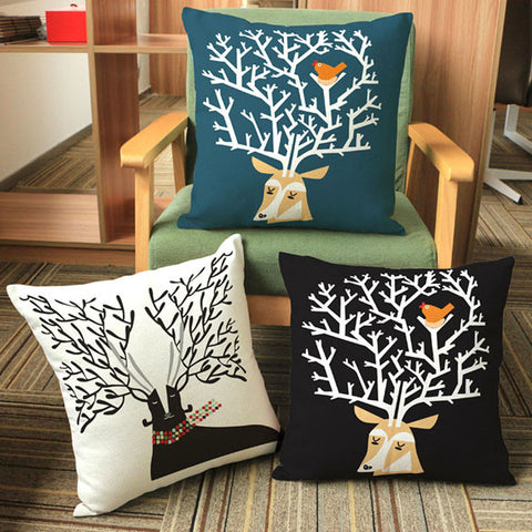 Throw Pillow Covers | Antlerz  - 3 designs - Seahorse Mansion