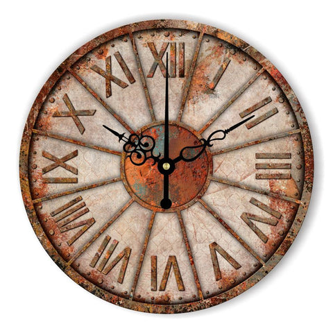 Illusion Aged Copper Wall Clock - Seahorse Mansion - coastal decor gifts