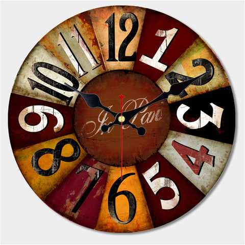 Wall Clock - Retro Aged Effect - Seahorse Mansion - coastal decor gifts