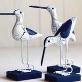 Wooden Coastal Birds - Set of 3 - Seahorse Mansion - coastal decor gifts
