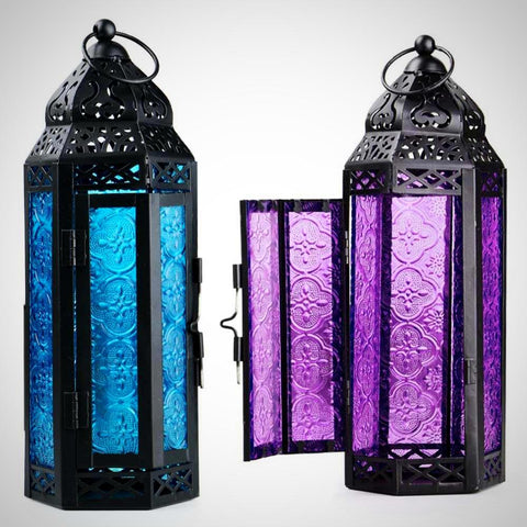 Maleena Moroccan Lantern - Seahorse Mansion - coastal decor gifts