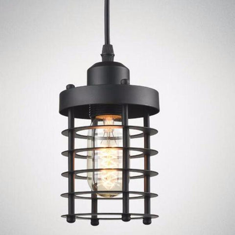 Industrial Cage Pendant Lamp - Seahorse Mansion - coastal decor gifts
