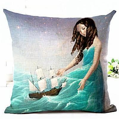 Fantasy Throw Pillow Covers - 10 designs - Seahorse Mansion - coastal decor gifts
