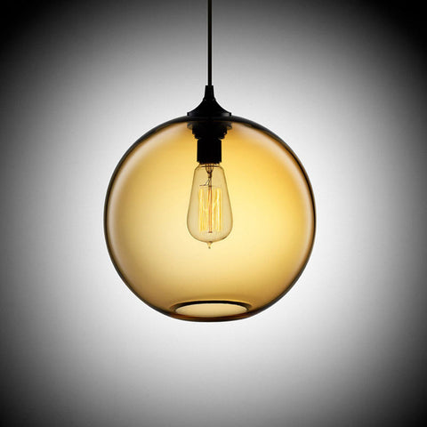 Pendant Light | Colored Sphere - 7 colors, 2 sizes - Seahorse Mansion