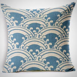 Throw Pillow Cover | Ocean Brain Waves - 7 patterns - Seahorse Mansion - coastal decor gifts