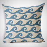 Throw Pillow Cover | Ocean Brain Waves - 7 patterns - Seahorse Mansion