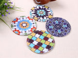 Kaleidoscope Boho Drink Coasters - Seahorse Mansion