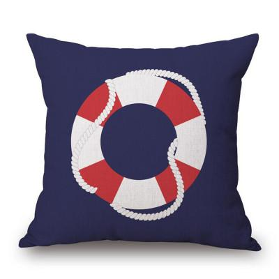 Navy Red Nautical Throw Pillow Covers 40 Patterns Cool Coastal Throw Pillow Covers