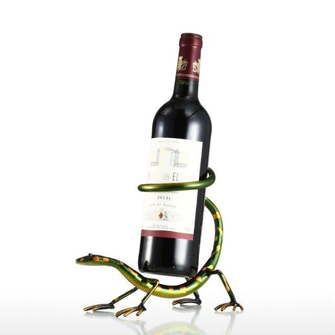Wine Bottle Holder | Island Lizard's Brother - Seahorse Mansion
