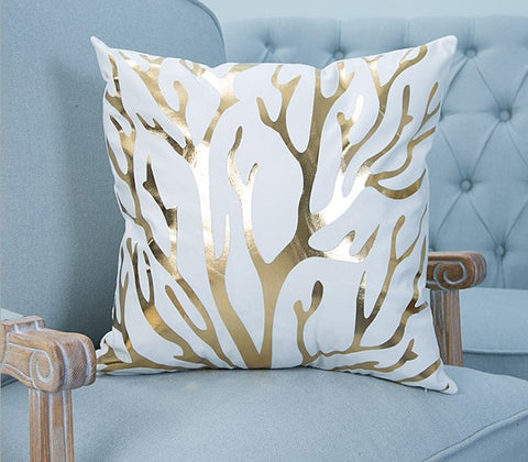 Throw Pillow Covers | Golden Tropics - 2 Designs - Seahorse Mansion