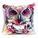 Throw Pillow Covers | Wild North - Wolf or Owl - Seahorse Mansion