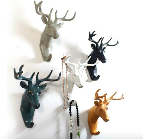 Deer Head Wall Hook - Seahorse Mansion
