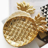 Golden Pineapple Plate - 2 colors - Seahorse Mansion
