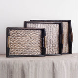 Serving Tray | Dark Bamboo Rattan - 4 sizes - Seahorse Mansion