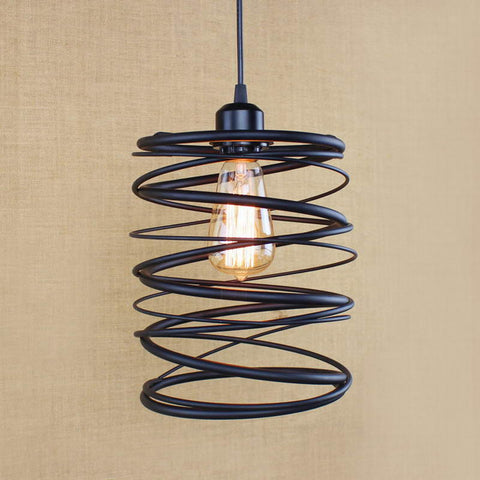 Swirl Iron Pendant Lamp - Seahorse Mansion - coastal decor gifts