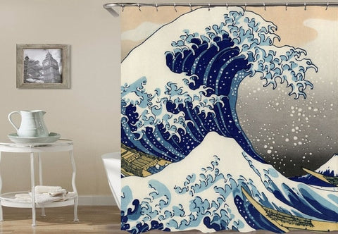 Shower Curtain | Great Wave - 3 sizes - Seahorse Mansion