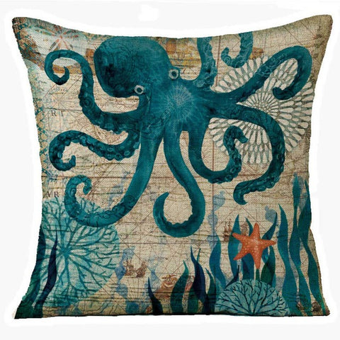 Throw Pillow Covers | Ocean Odyssey - 5 styles - Seahorse Mansion