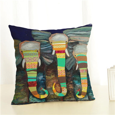 Throw Pillow Covers | Eccentric Elephant - 15 patterns - Seahorse Mansion