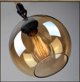 Glass Globe on Rope Pendant Lamp - Seahorse Mansion - coastal decor gifts