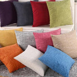 Throw Pillow Covers | Heathered Assorted - 12 colors - Seahorse Mansion - coastal decor gifts