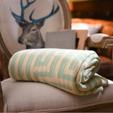 Throw Blanket | Greek Key Knit - 4 colors - Seahorse Mansion
