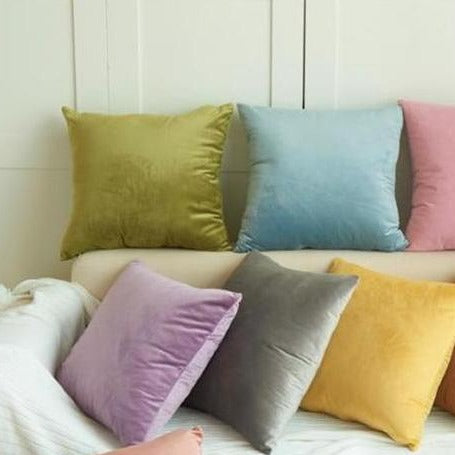 Throw Pillow Covers | Velvet Romantic - 12 colors - Seahorse Mansion