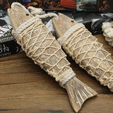 String of Wooden Fish - Set of Two